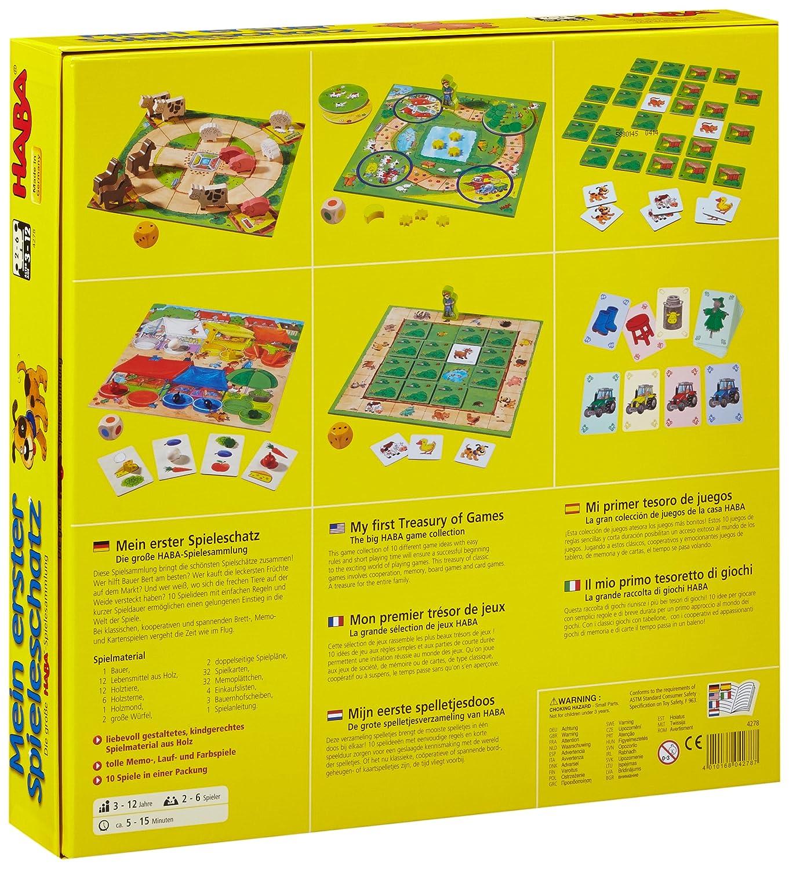 Haba 4278 - Mein erster Spieleschatz Die große Spielesammlung, 10 ...