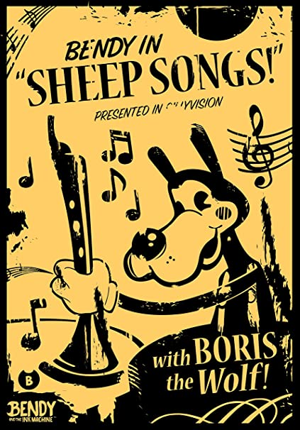 Amazon.com: Bendy and the Ink Machine Boris the Wolf - Sheep Songs ...