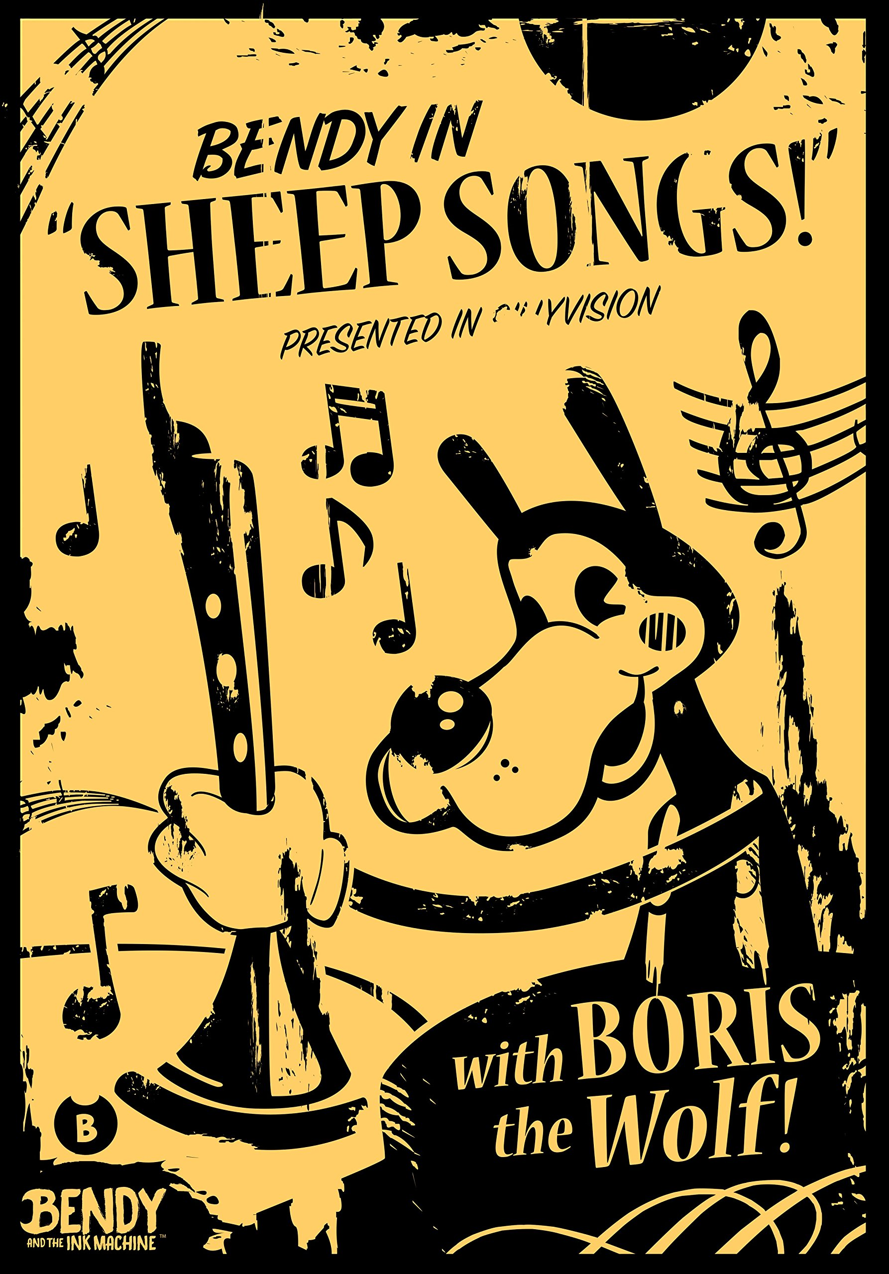 Bendy and the Ink Machine Boris the Wolf - Sheep Songs Poster < Wall ...