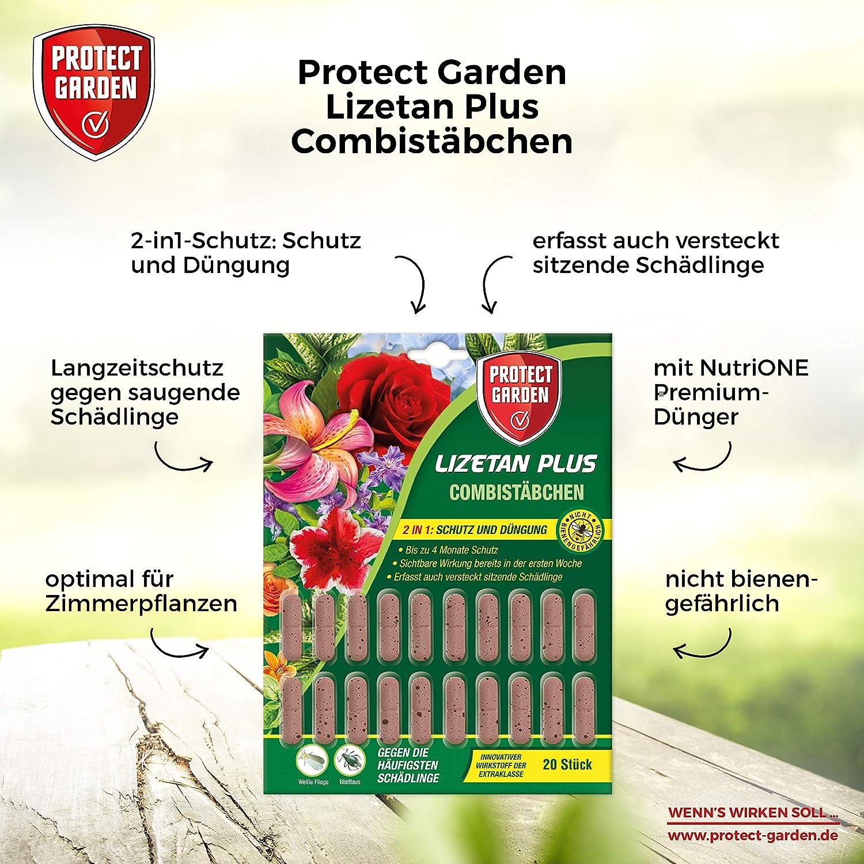 PROTECT GARDEN Lizetan Plus Combist/ächen Sch/ädlingsfrei gegen Blattl/äuse und andere saugende Sch/ädlinge und Premium-D/ünger in Einem 10 St/ück
