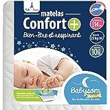 Babysom - Matelas Bébé Confort+ - 60x120cm - Ultra Ventilé - Déhoussable - Epaisseur 14cm - Garantie 10ans