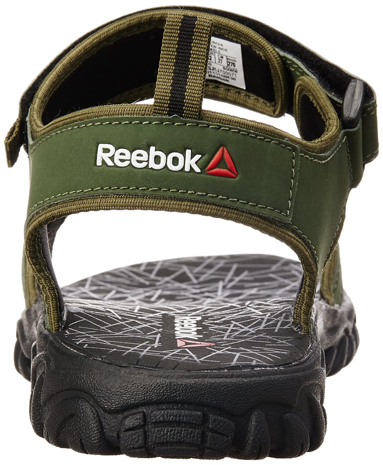 f86ace7cf Reebok Men s Aztrix Primal Green and Black Sandals - 11 UK India (45.5  EU)(12 US)  Buy Online at Low Prices in India - Amazon.in