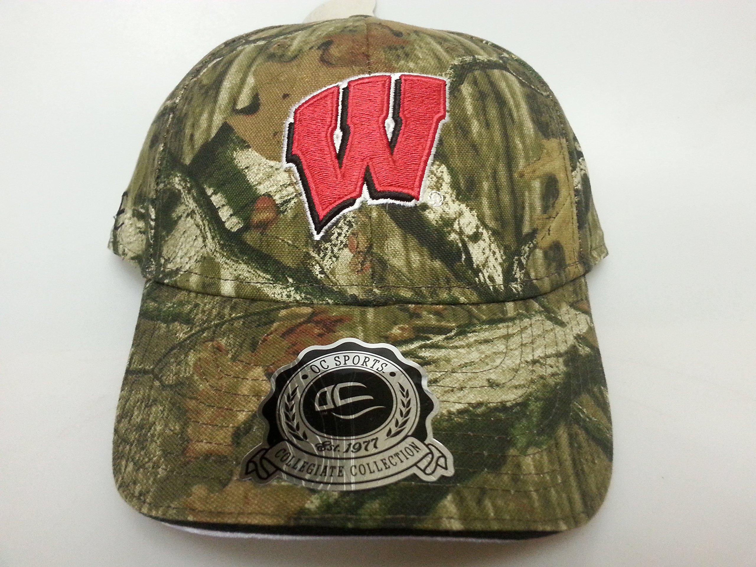 NCAA New Wisconsin Badgers Realtree Camo Buckle Hat