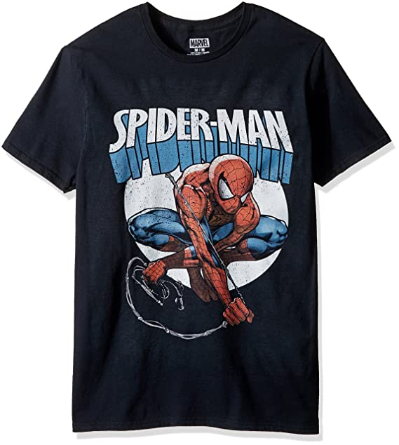 Marvel Men's Spider-Man Short Sleeve Graphic T-Shirt, Black 1, Small