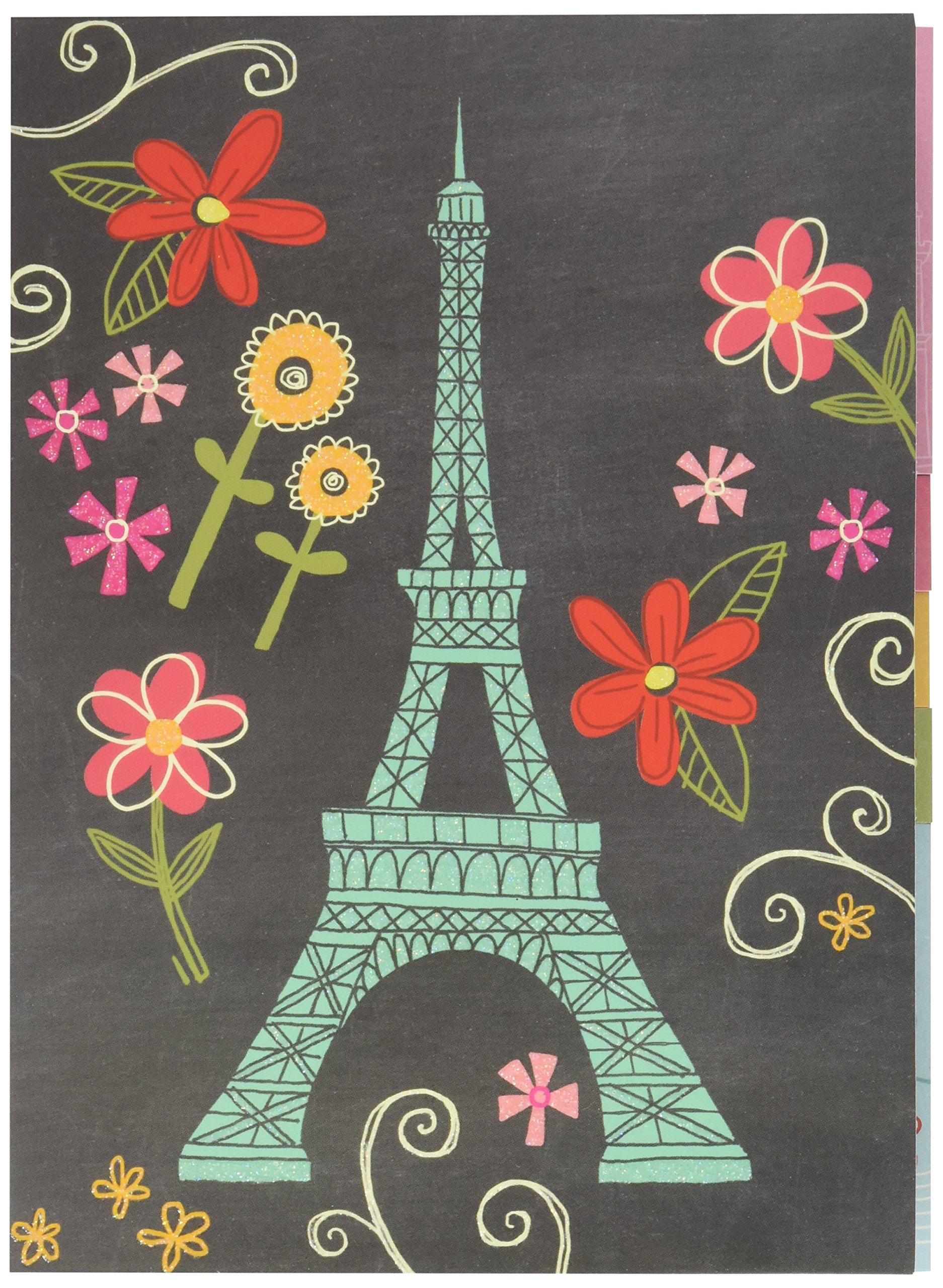 Punch Studio Mod Eiffel Tower Sticky Note Set in Folder