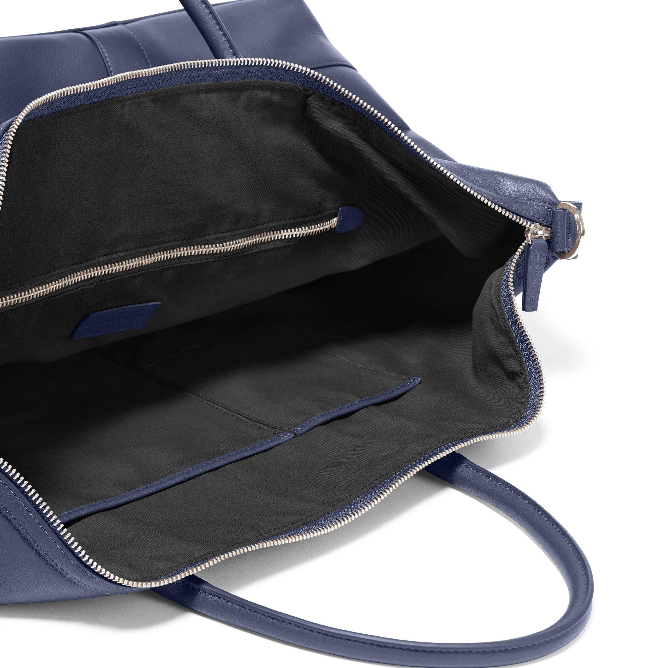 Kessler Medium Duffle - Full Grain Leather Leather - Navy (blue) by Leatherology (Image #2)