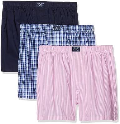 Polo Ralph Lauren 3 Pack Woven Boxers, Bain Homme, Multicolore (Smith Kent fb71fd4f57f