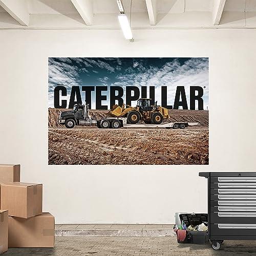 Cat Semi Hauling Loader Mural