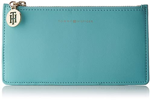 Tommy Hilfiger - Statement Med Cc Wallet, Carteras Mujer, Azul (Aqua Haze), 0.5x10x19 cm (B x H T): Amazon.es: Zapatos y complementos