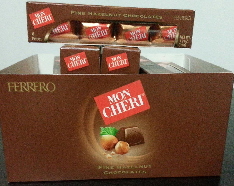 Amazon.com : Mon Cheri Fine Hazelnut Chocolates By Ferrero (4 Box ...