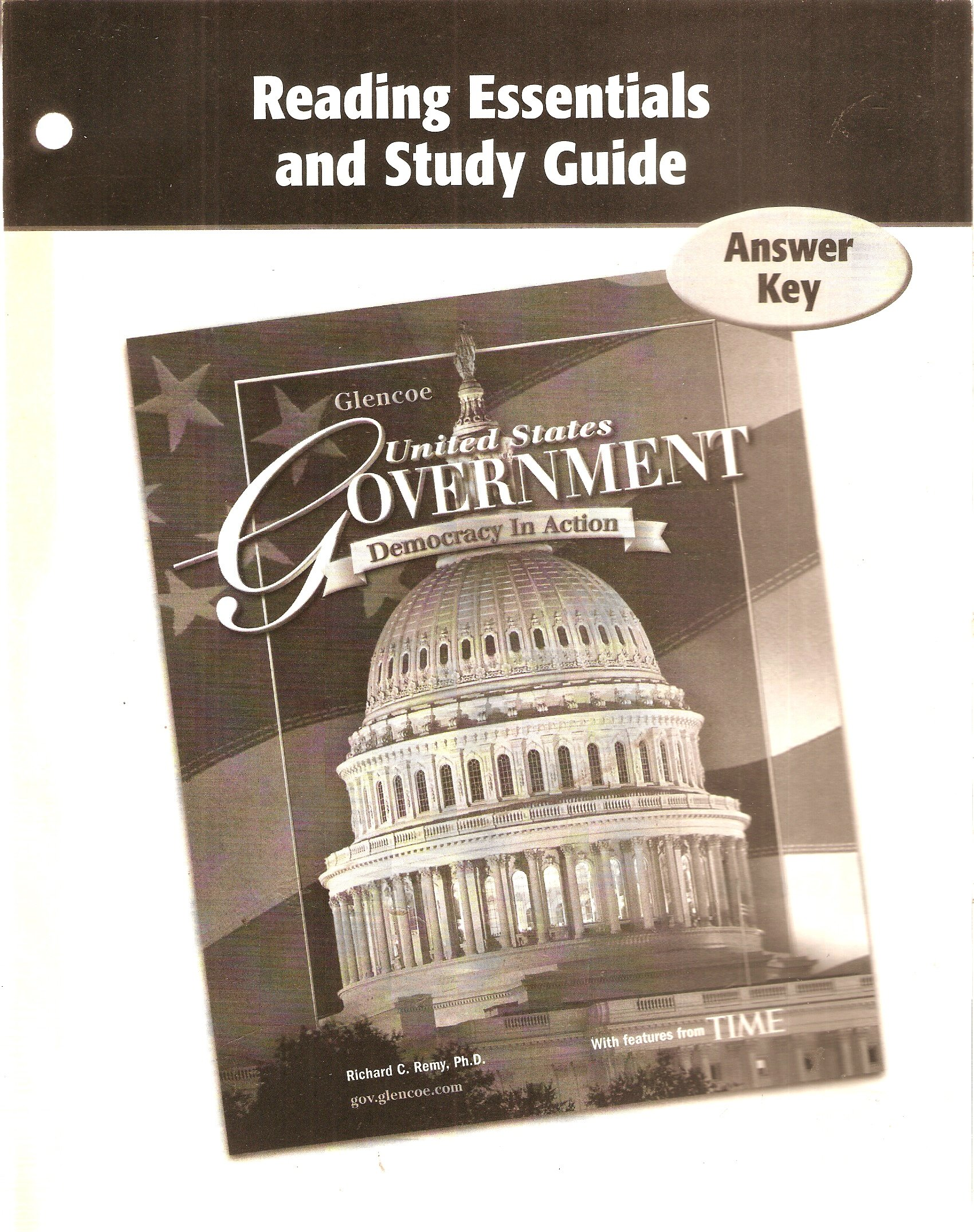 Answer Key for Reading Essentials & Study Guide: Glencoe United States  Government Democracy in Action: Glencoe/McGraw-Hill/R.Remy: Amazon.com:  Books