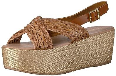 f9808fb546ae KAANAS Women s Nut Espadrille Wedge Sandal