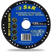 S&R Disco 125 Diamantado para Amoladora. Corte Metal