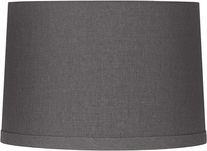 Gray Linen Drum Lamp Shade 15x16x11 Spider Springcrest Amazon Com