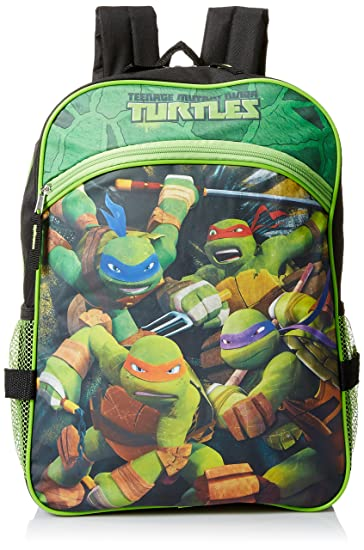 5f66ba4484 Image Unavailable. Image not available for. Color  Teenage Mutant Ninja  Turtles Boys  16 Inch Backpack ...