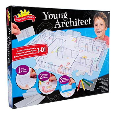 Scientific Explorer Young Architect Kids Building Model Design Kit: Toys & Games