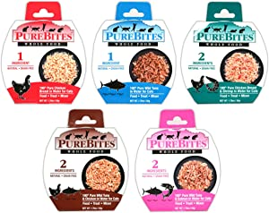 PureBites Mixer Wet Cat Food Variety Pack, 5 Flavors, 1.76 Ounces Each, 50g, (10 Total Mixers)