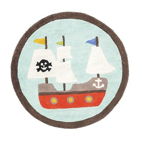 Alinéa Pirate Tapis Rond Enfant Bleu: Amazon.fr: Cuisine ...