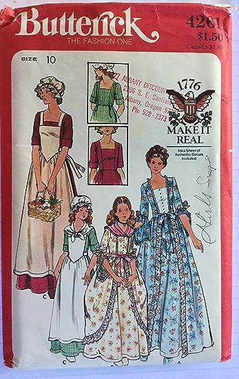 Amazoncom Butterick 4261 Girls Civil War Era Costume Size 10