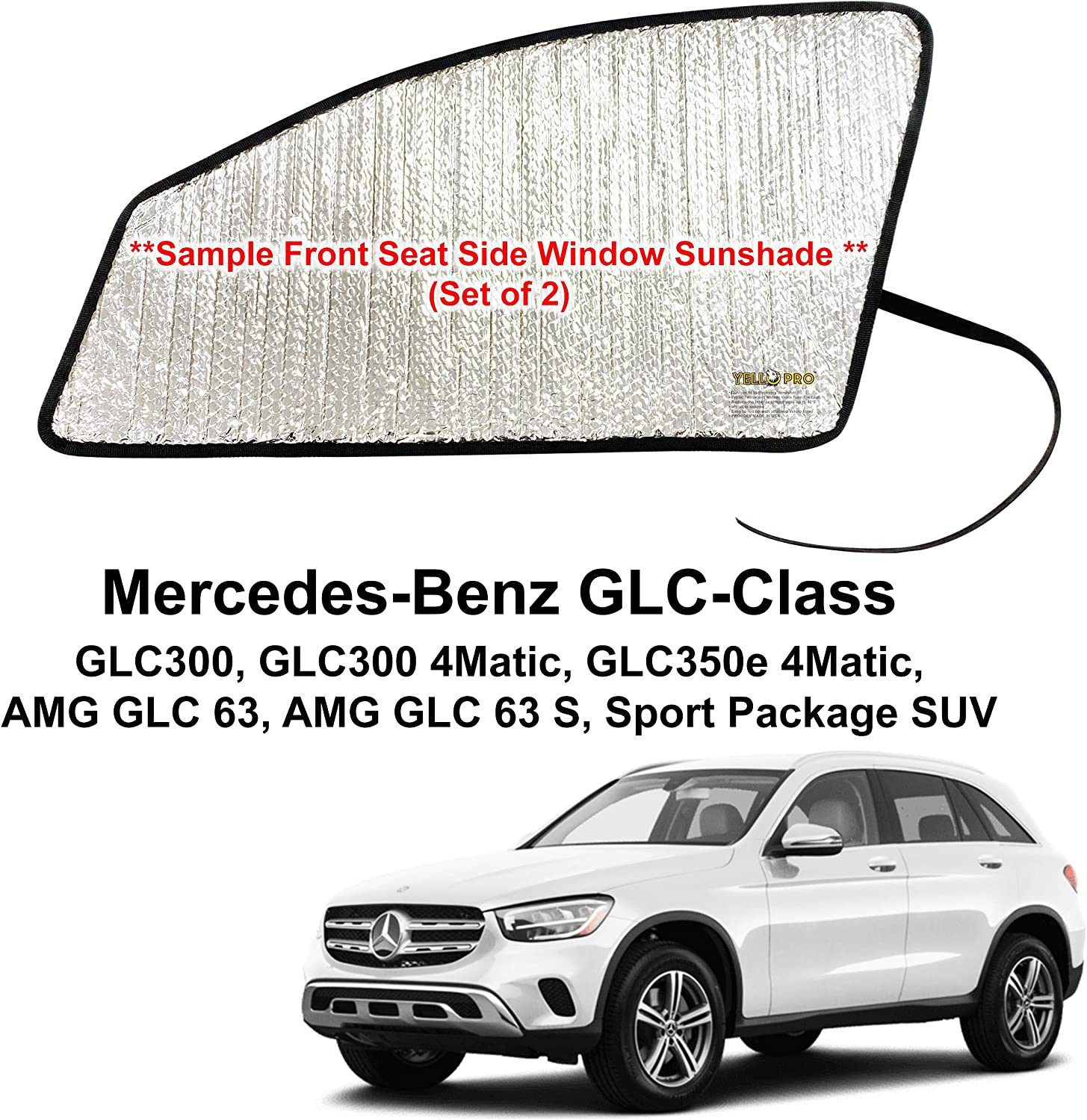 Covercraft UV11469GN Green Ice UVS 100 Custom Fit Sunscreen for Select Mercedes-Benz GLC300//GLC43 AMG Models Laminate Material 1 Pack