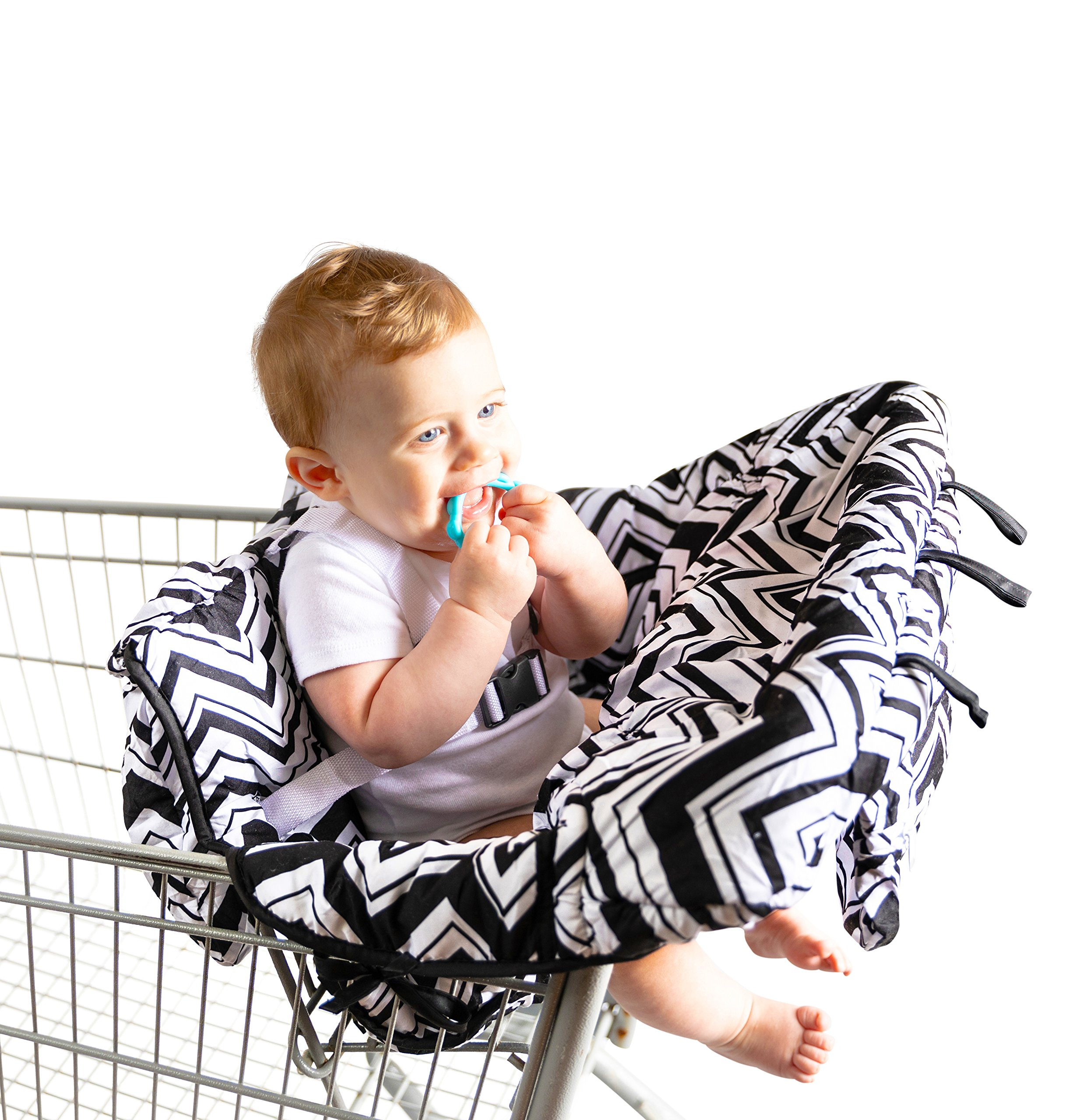 Baby Shopping Cart Cover by BABEL'E (Chevron)