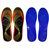 Cushioning Energy Gel Insoles for Men and Women - One Size Fits All - Free Energy Balance Band!