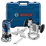Bosch GKF125CEPK Colt 1.25 HP (Max) kit de combinación de router de palma de velocidad variable