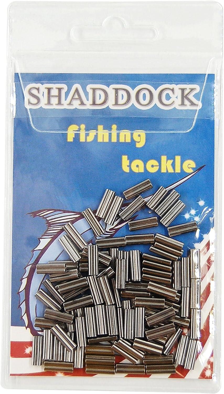 Shaddock Fishing Double Barrel Crimp Sleeves 100pcs High Strength Brass Copper Tube Connector Inside Diameter 0.6-2.6mm