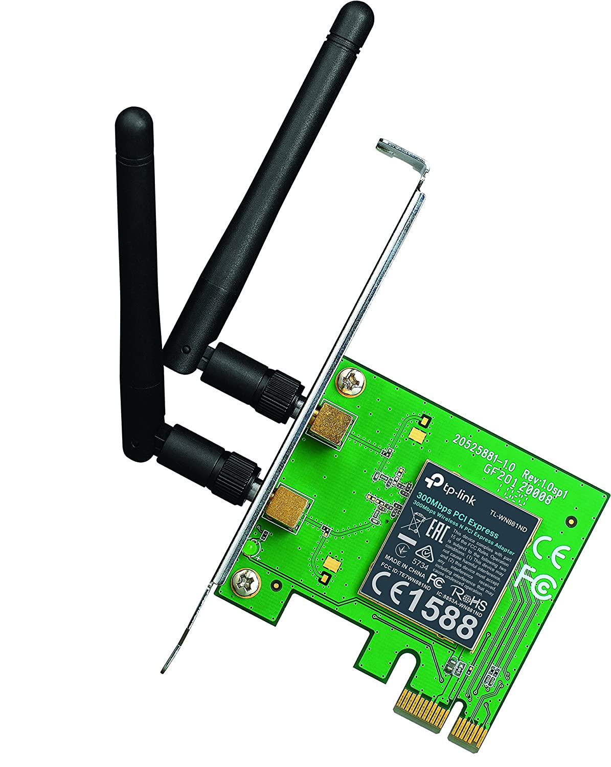 tp link tl wn881nd 300mbps wireless n pci express adapter wifi card ebay. Black Bedroom Furniture Sets. Home Design Ideas