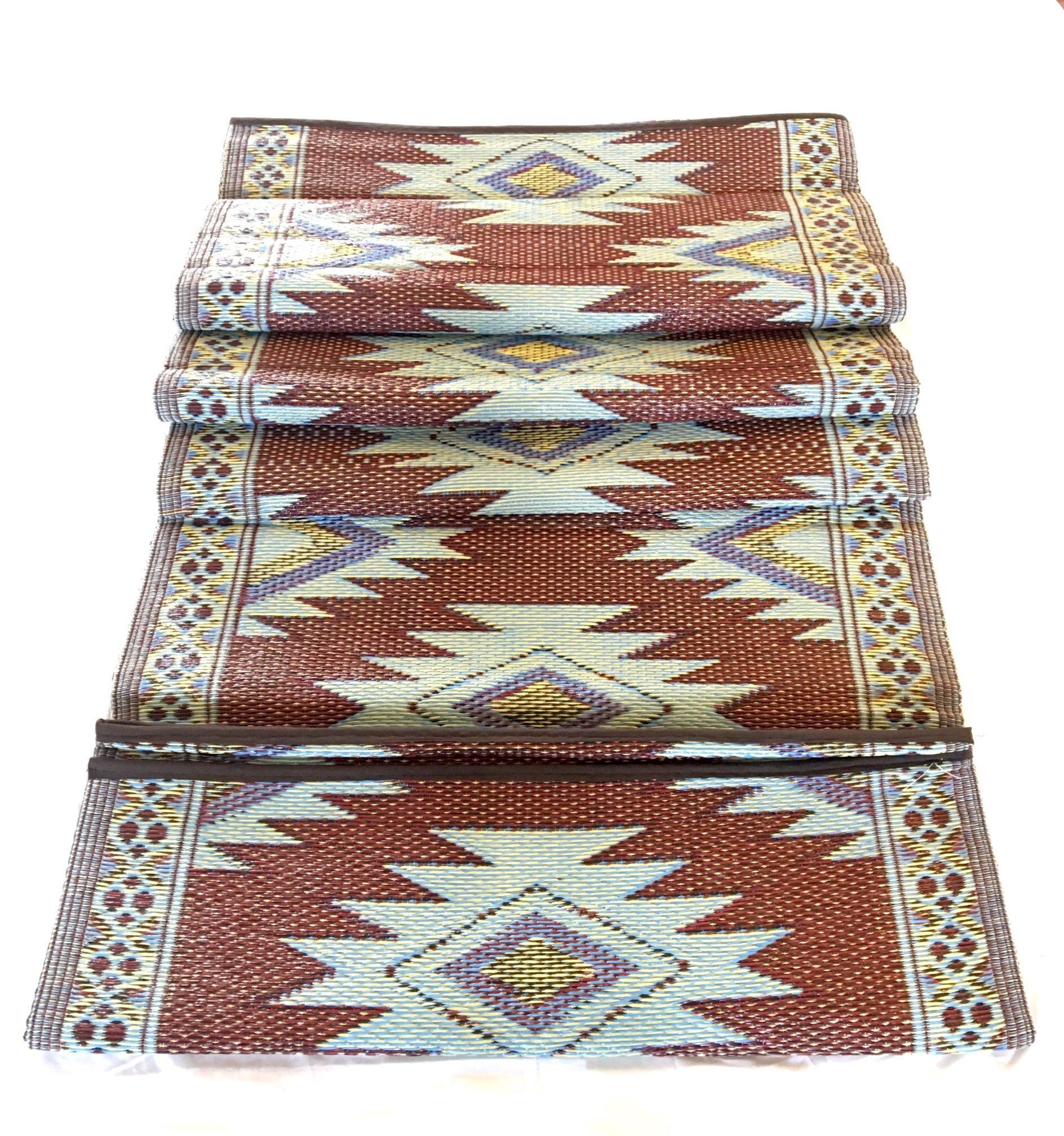 9'x12' Outdoor rugs Patio RV Camping Rug Mat Picnic Garden Reversible 20300 by BalajeesUSA