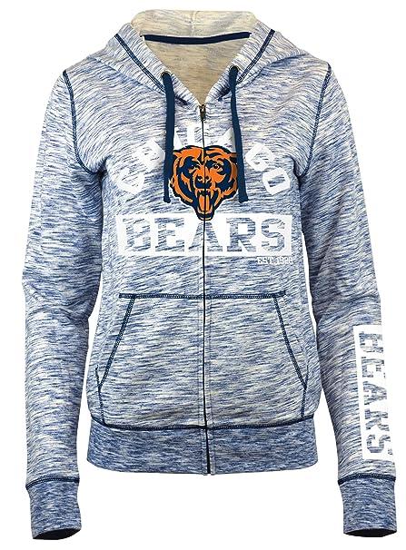 Amazon.com   A-Team Apparel NFL Women s French Terry Space Dye Zip ... f8b5aa12c