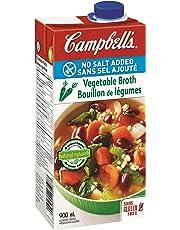 Campbell's No Salt Added Vegetable Broth, 900 ml