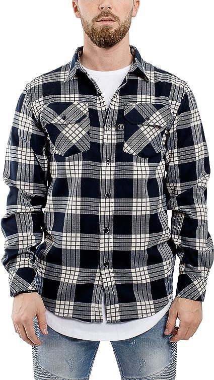 Blackskies Camisa Hombres Manga Larga | Streetwear Franela de leñador Ombre Dip Dye: Amazon.es: Ropa y accesorios