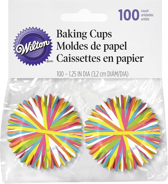 Wilton Color Wheel Mini Baking Cups, 100 Count