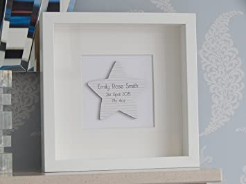 New baby box frame gift personalised with the name date born and new baby box frame gift personalised with the name date born and weight all negle Choice Image