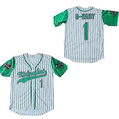 Supereasydeal Jarius G-Baby Evans 1 Kekambas Baseball Jersey Hardball  (White 0e38a4e855