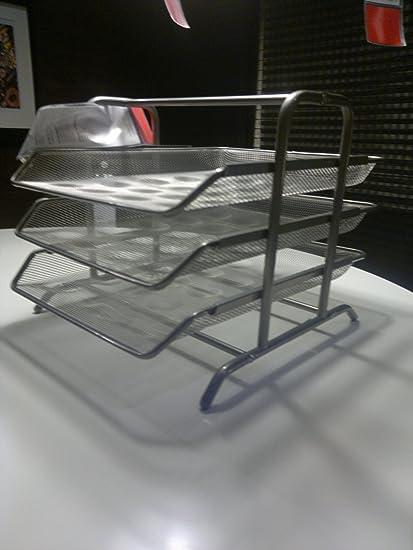 IKEA A4 bandeja, documento organizador para el hogar y la oficina - Plata