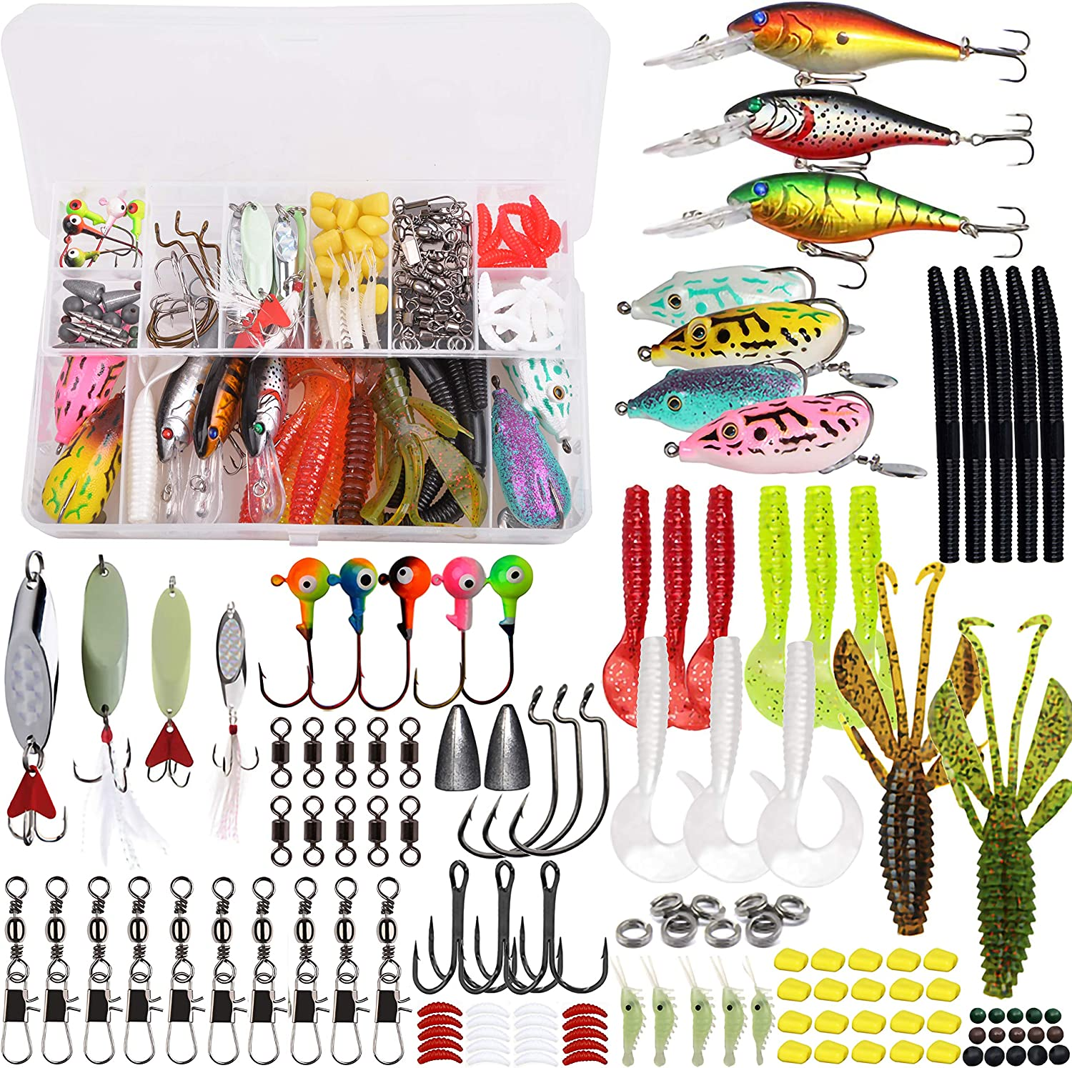 4 Pieces Fishing Lures Crankbaits Hooks Minnow Artificial Baits Tackle