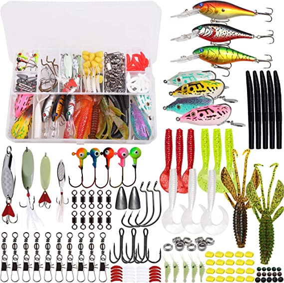 Set of Metal Fishing Lures 30pcs Baubles of Different Colors Sizes Fishing Tackl