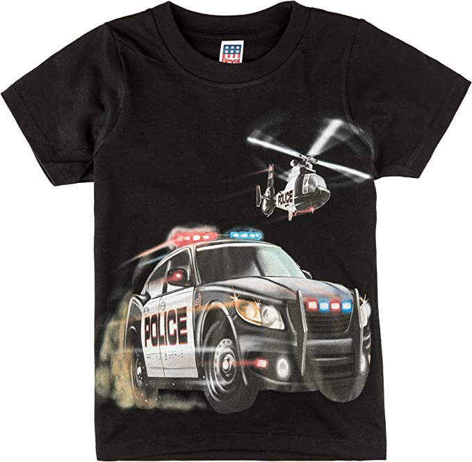 Amazon.com: Camisas que van Little Boys coche de policía y ...