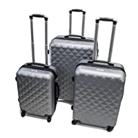 Deals on Aleko LG52SL Abs Suitcase Set Luggage 3 Piece