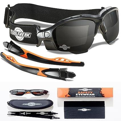 6e004ada80 ToolFreak Spoggles - Safety Glasses   Protective Goggles Combination Smoke  Lens  Amazon.co.uk  DIY   Tools