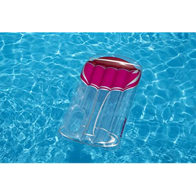 Swimline Glass of Red Float Pool Inflatable Ride-On, Clear/Red: Toys & Games