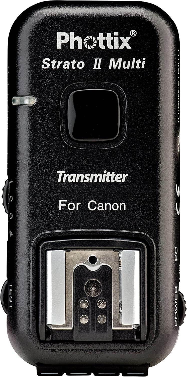 Transmitter and Receiver Phottix Strato II Wireless Flash Trigger Multi 5-in-1 Set for Canon PH15651