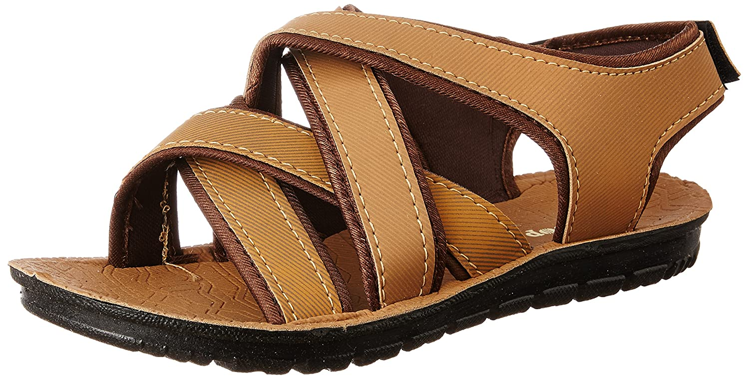 671630f5e6f7 Earton Men s Brown Sandals   Floaters  Buy Online at Low Prices in India -  Amazon.in