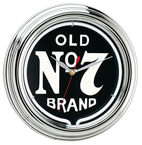 Amazon 7 jack daniels old 7 jack daniels old no 7 neon clock voltagebd Gallery