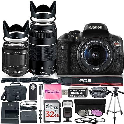 Amazon Com Canon Eos Rebel T6i Dslr Camera With Canon 18