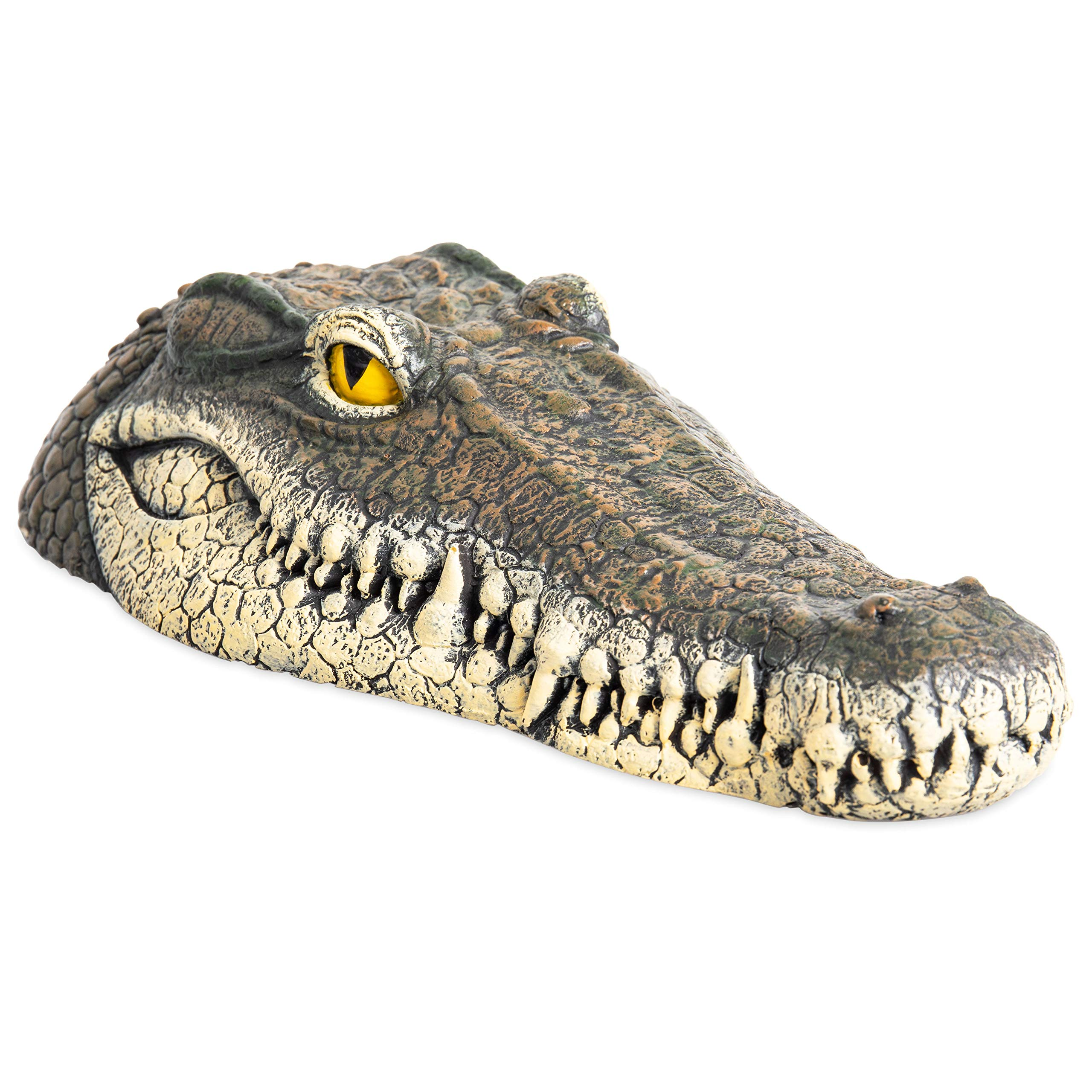 Homarden Floating Crocodile Head Water Decoy (13 x 6 x 3 Inches) - Garden or Pond Art Decor for Goose, Predator, Heron, Duck Control