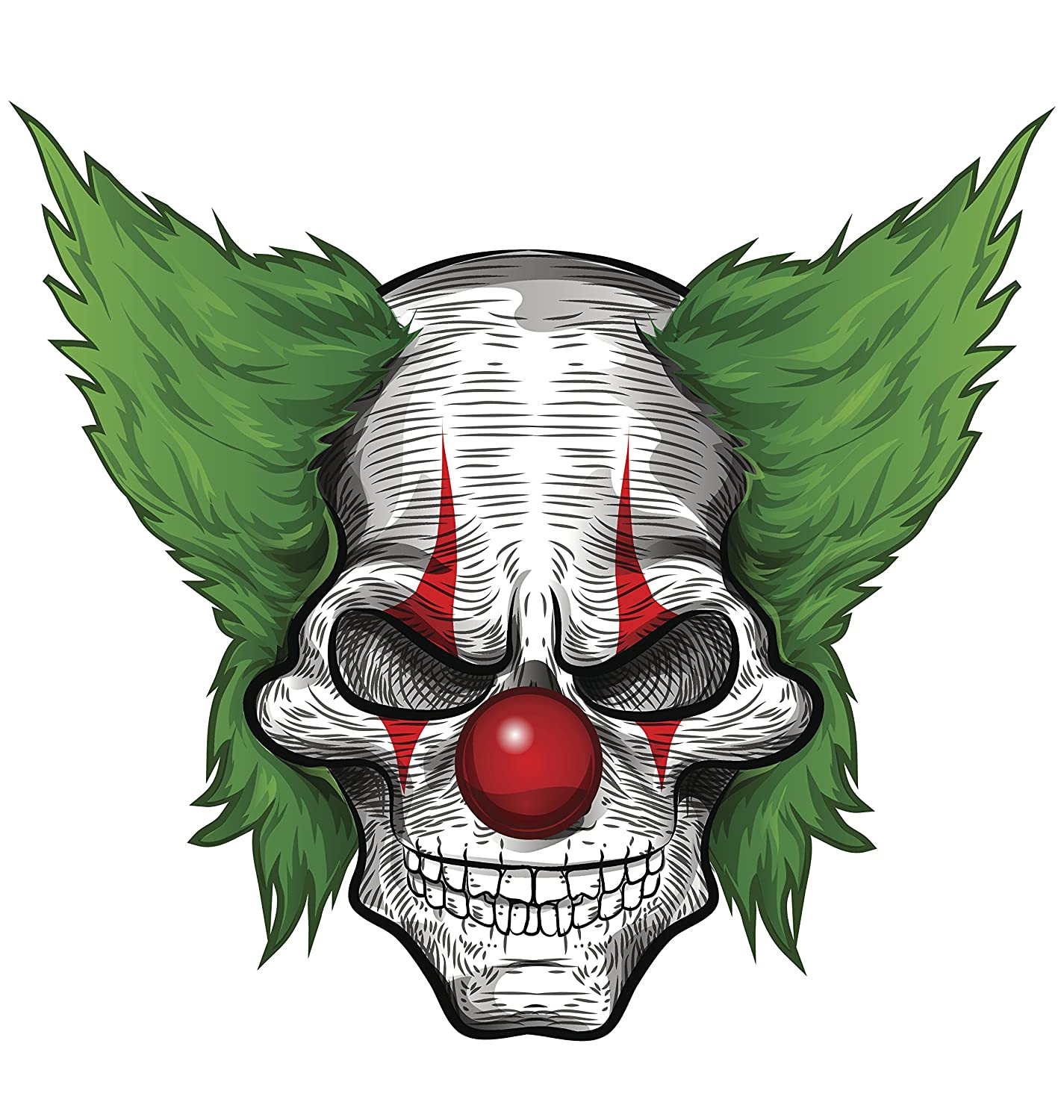 Amazon com scary joker clown skull vinyl decal sticker 4 wide automotive