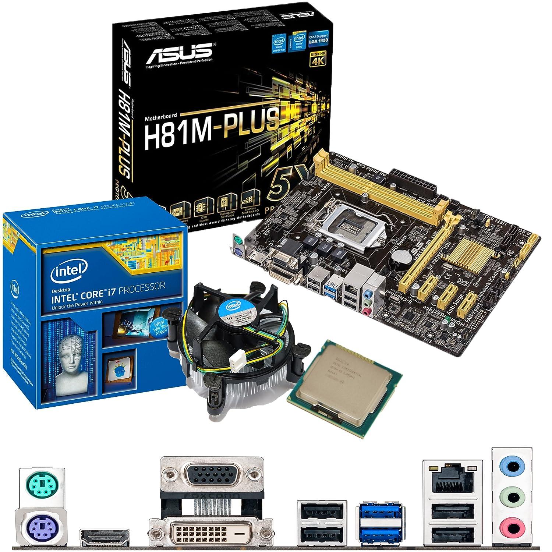 INTEL Core i7 4790 K 4,0 gHz, ASUS H81M - Plus CPU y placa ...